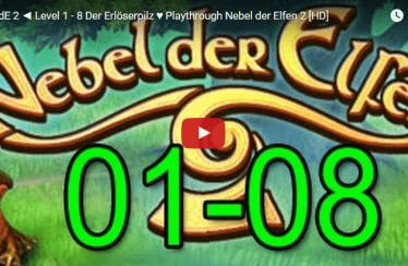 ► NdE 2 ◄  Level 1 – 8 Der Erlöserpilz ♥ Playthrough Nebel der Elfen 2 [HD]