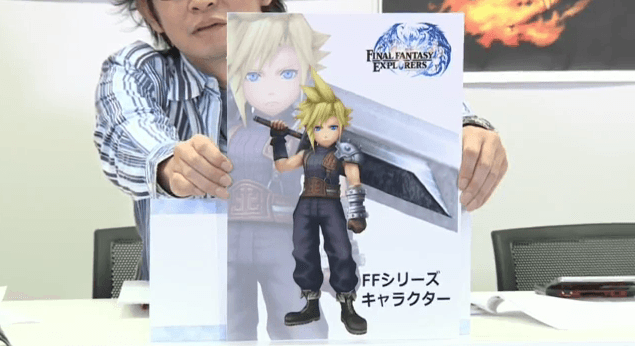 Final Fantasy Explorers Transformation zu Cloud