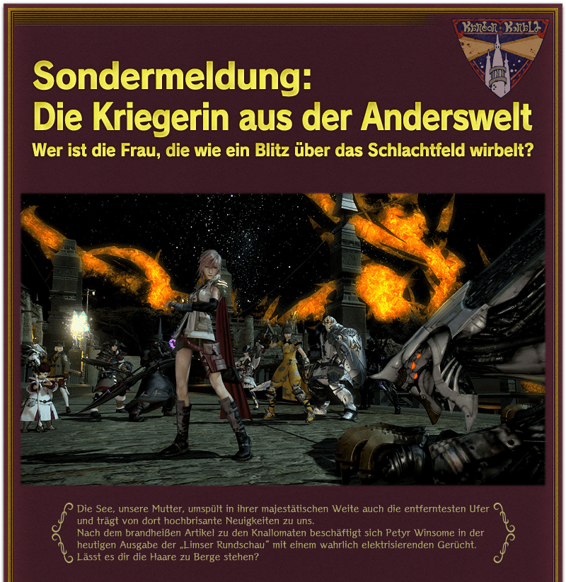 Neues Lightning Cross Over Event in FF14