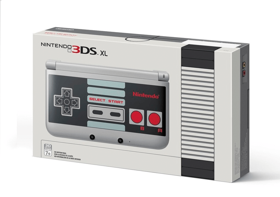 Nintendo 3DS XL im NES Style