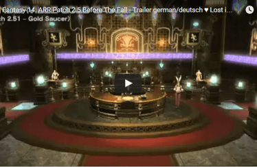 Final Fantasy 14: ARR Patch 2.5 Before The Fall – Trailer german/deutsch ♥  Lost in Games HD