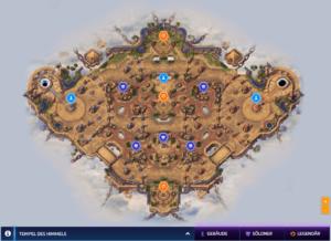 Die Karte vom Tempel des Himmels