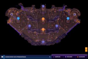 Die Karte der Grabkammer