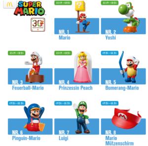 Die Mario Figuren bei MC Donalds Quelle: Mc Donalds