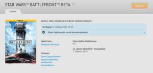 Origin StarWars Battlefront Beta Start Date