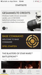 Der Startbildschirm der App