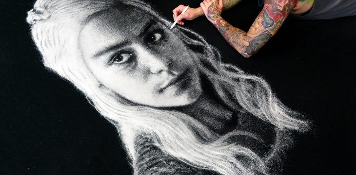 Wie wird ein Daenerys Targaryen Portrait aus Salz gemacht