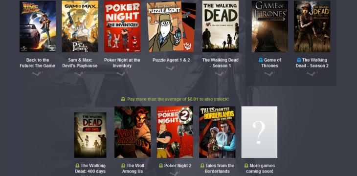 Humble Bundle bietet zum Spottpreis Telltale Adventures an!