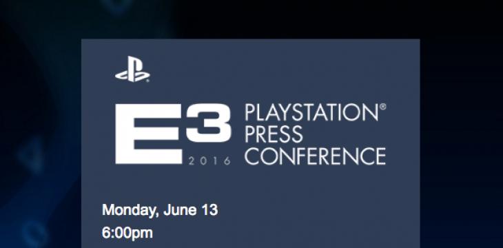 Sony nennt Termin für Pressekonferenz zur E3 2016