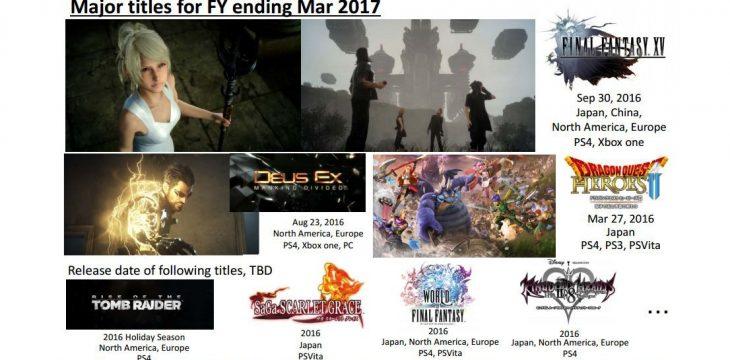 Das Final Fantasy VII Remake und Kingdom Hearts 3 erscheinen nicht mehr vor April 2017