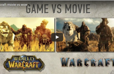 Vergleichsvideo Warcraft Film mit WoW-Grafik Machinima Version