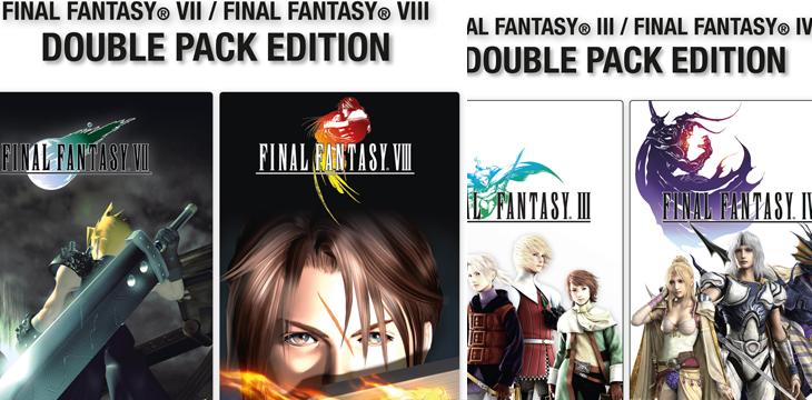 Final Fantasy Double Packs für FFIII und FFIV, FFVII und FFVIII ab sofort erhältlich